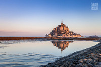 The Mont St Michel at high tide