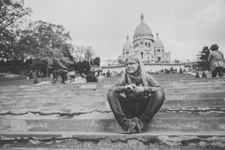 """Discover a photo reportage of """"A girl in Paris"""" Discovering the Capital...aged eight and a half by artisan photographer Sabina Lorkin"""