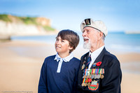 Commercial Photographer Normandy - Surrey D-Day Veterans Photographed at Arromanches