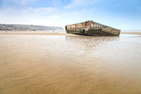 The Mulberry Harbour at Arromanche - Calvados - Normandy