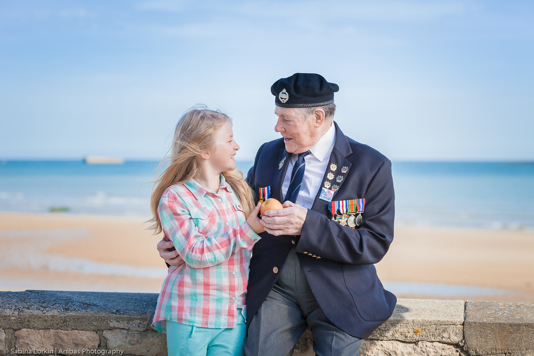 Discover the Surrey Normandy Veterans photographed at Arromanches - WWII Landing Beaches