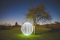 { Balls of Light } 'Light Painting' in Normandy