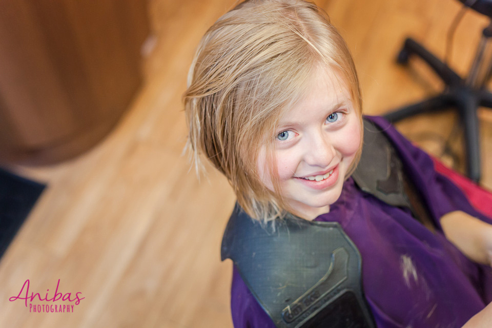 Personal | Discover why and how our daughter Emilie had her hair cut for Solidhair